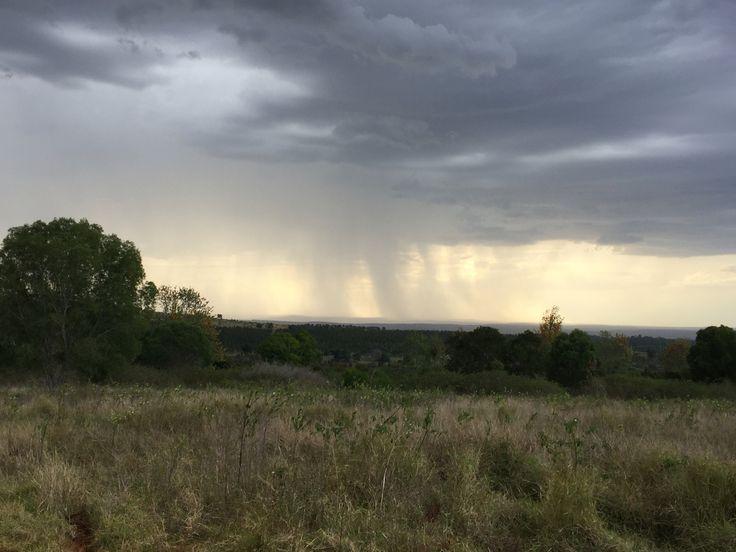 Rain on the hill