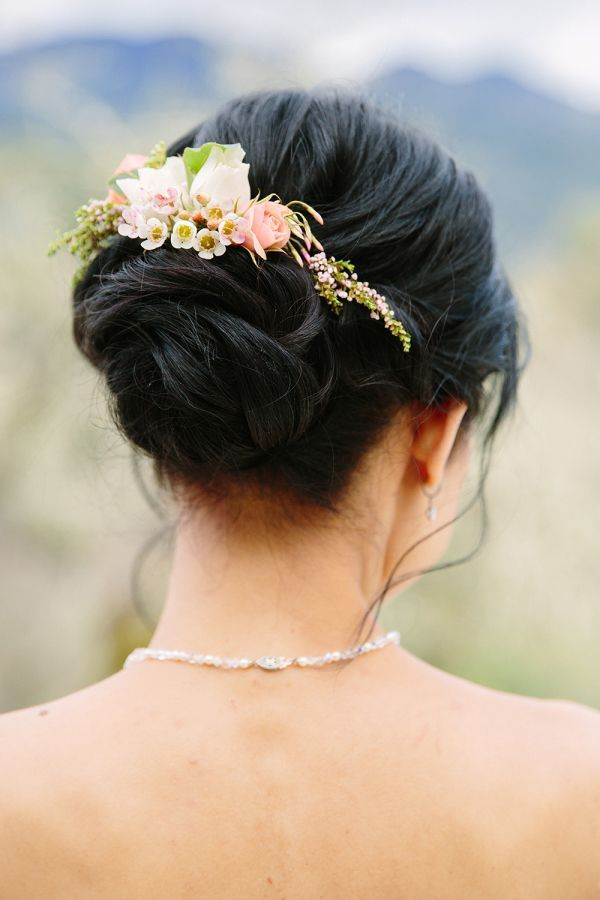 floral wedding hairstyle