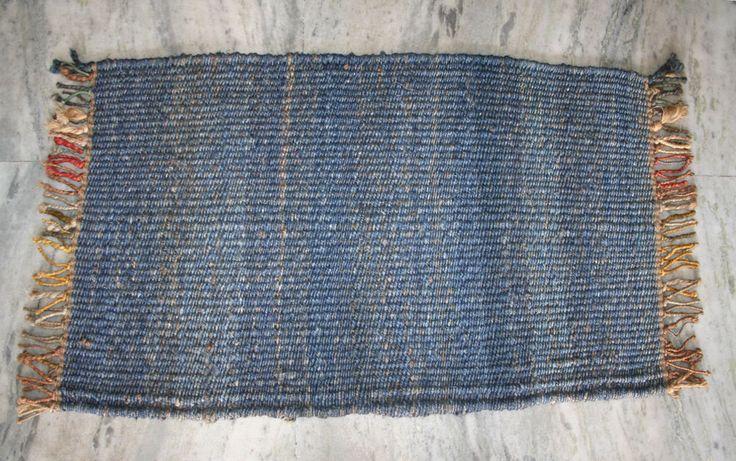Handmade Jute Door Mat & Floor Mat Kilim Carpet Rugs Room Door Mats EDH  #Unbranded