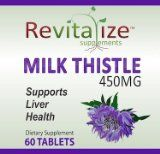 Milk Thistle Extract - Liver Health Supplement 450mg - Liver Detox Benefits - Excellent Hangover Pills - 60 Milk Thistle Herb Powder Tablets - Standardized to 80% Silymarin Milk Thistle. 180 Days 100% Satisfaction Guarantee or Money Back! by Revital