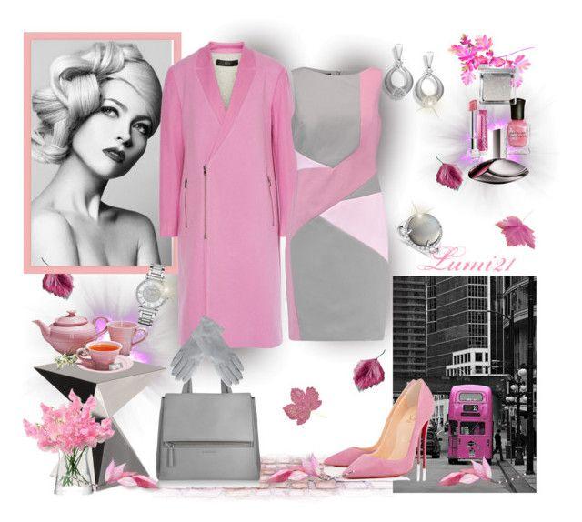 pink autumn by lumi-21 on Polyvore featuring Raoul, TIBI, Christian Louboutin, Givenchy, Blue Nile, Michael Kors, Vivienne Westwood, Bobbi Brown Cosmetics, Calvin Klein and Deborah Lippmann