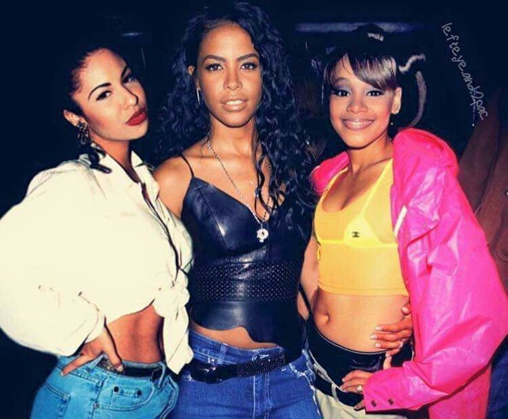 (L to R) Selena, Aaliyah, & Left Eye. How can all three of these ladies be gone? R.I.P.