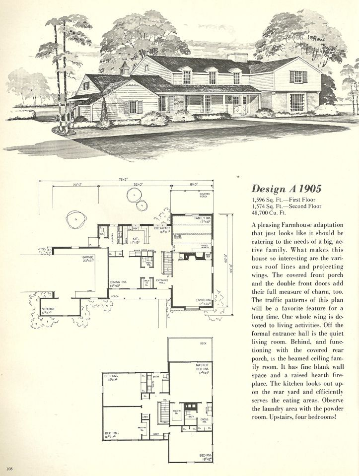 Vintage Farmhouse Plans 1233 best house plans images on pinterest | vintage houses
