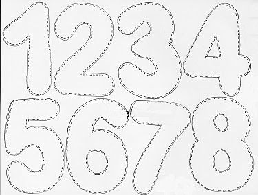 moldes de numeros