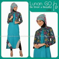busana cantik faira: Blazer busana muslim batik