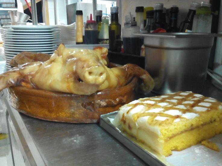 Famous Roasted Suckling pig and delicious dessert known as Ponche segoviano. Ready to start the weekend!