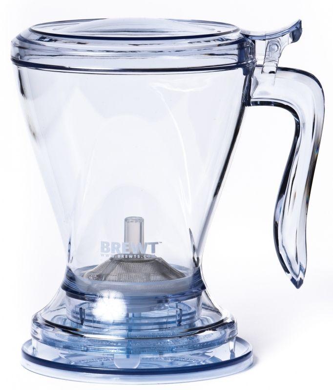 De BrewT Tea Maker maakt thee drinken leuk, stijlvol op tafel, handig & lekvrij, genoeg voor 2 koppen thee. De BrewT maakt gebruik van directe onderdompeling van de thee om zo een thee vol van smaak te krijgen. Om de thee te bereiden doe je de losse thee in de BrewT en voegt het hete water toe. Als de thee klaar is plaats je de gehele BrewT op de theekop hierdoor opent het afsluitventiel waardoor de thee in de kop/mok loopt. Als de BrewT wordt opgetild stopt de stroom automatisch weer.
