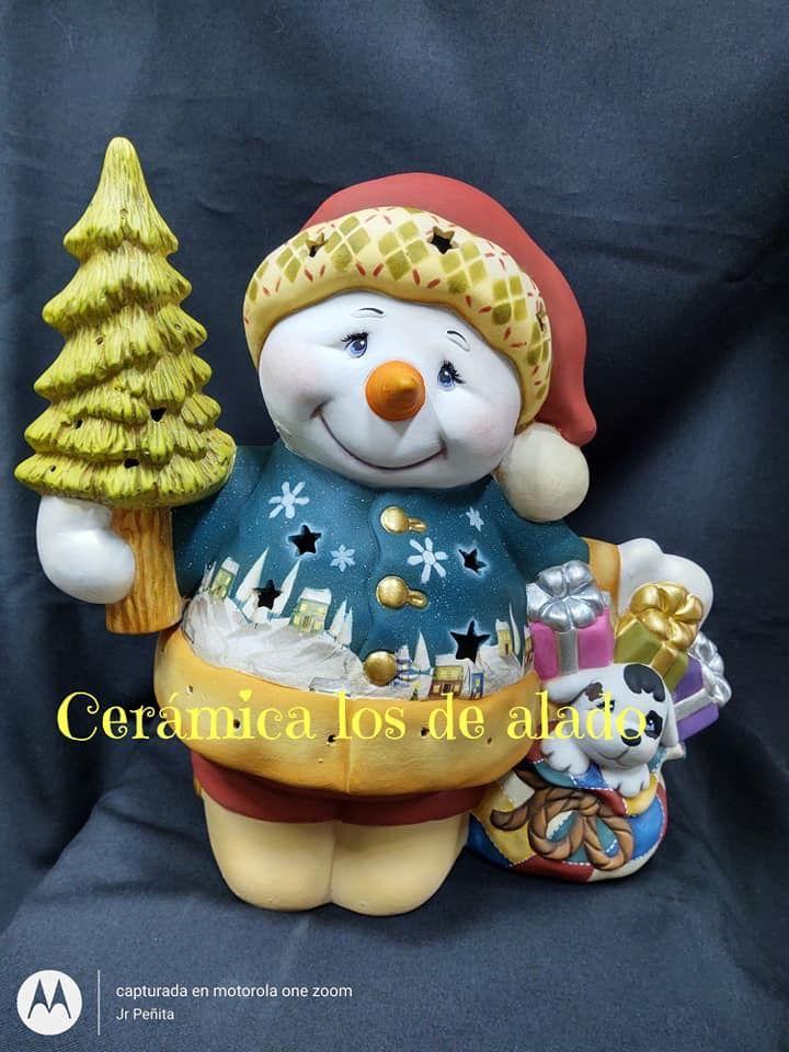 Muñeco De Nieve Manualidades Navideñas Arcilla De Navidad Cosas De Navidad