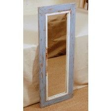I love the colors of this mirror.  XL Reclaimed Wood Mirrors - Reclaimed Wood Mirrors - Frames/Mirrors - Planet Craft