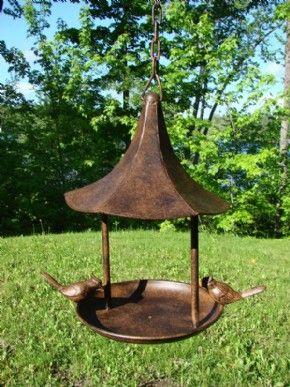 mondus distinction canadas home and garden decor metal birdfeeder - Open Garden Decor