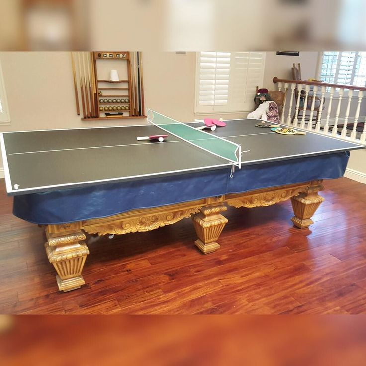 Finished Installing This Ping Pong Conversion Top On Top Of A Pro 8ft World  Of Leisure