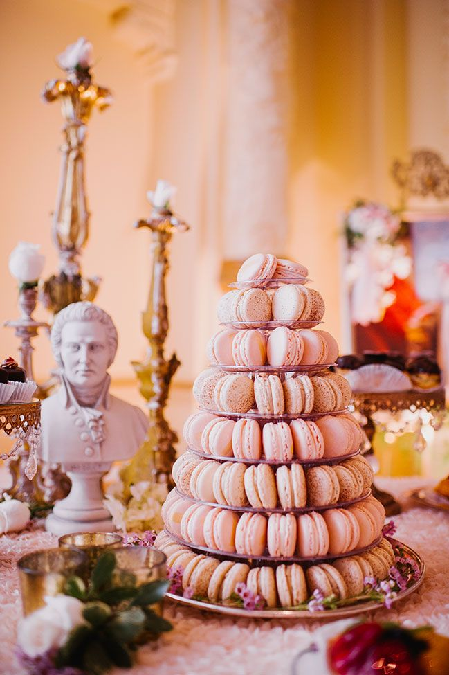 I love a tasty macaron tower! Marie Antoinette Inspired Victorian Wedding At Seattle | Photograph by Barrie Anne Photography  See The Full Story at http://storyboardwedding.com/marie-antoinette-victorian-wedding-seattle-fairmont/