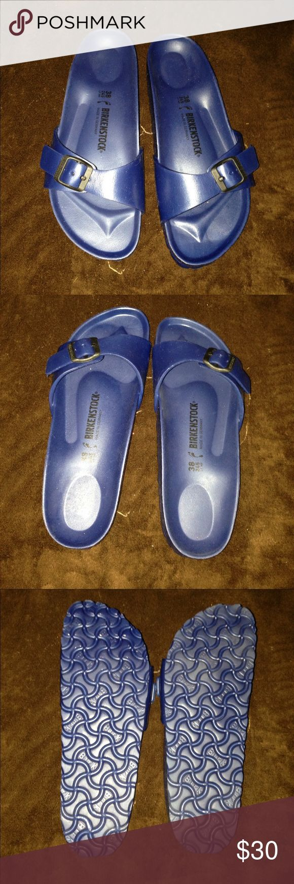 Birkenstock Madrid style navy blue size 38 nwt no box trade value is retail price Birkenstock Shoes Sandals