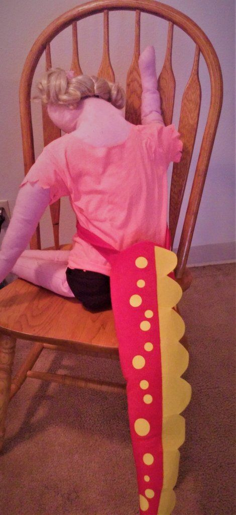 Costume  Dinosaur Tail for Kids in Red