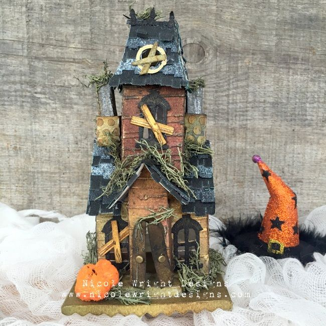 Beware of This Village Manor: A Spooky Mixed Media Make! / Sizzix Blog - The Start of Something You