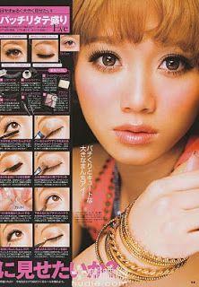 Azjatycki Cukier: Makijażowe inspiracje - delikatny makijaż w stylu japońskim