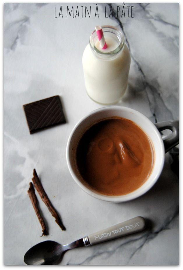 chocolat chaud crémeux au lait de coco