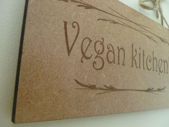 Vegan Kitchen Sign With Personalisation Kitchen Wall Sign Vegan Wooden Sign Vegan Home Decor Kitchen Plaque