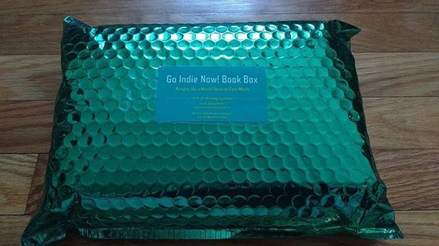 Go Indie Now! Book Club's bright green packaging puts me in a holiday mood!