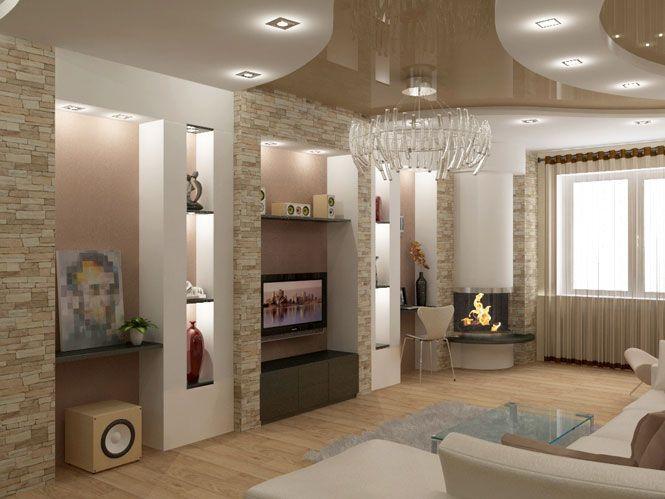 Дизайн интерьера                                       гостиной на ул. Академика                                       Королева