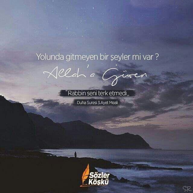 Allah'a güven.. #duhasuresi #sözlerköşkü