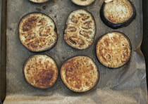 Baked Eggplant Slices -- Get Your Brine On and Enjoy!