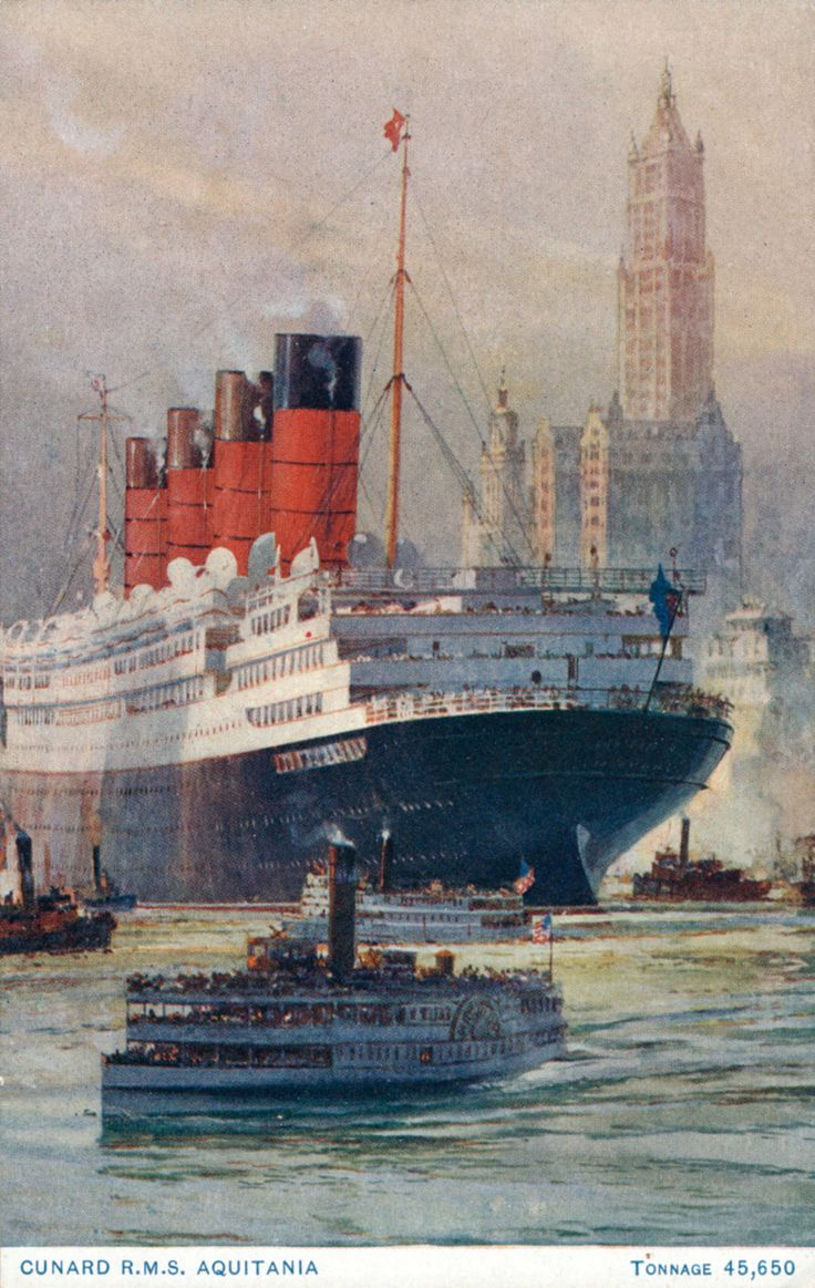aloysius-holland:      Aquitania      and the Woolworth Building!