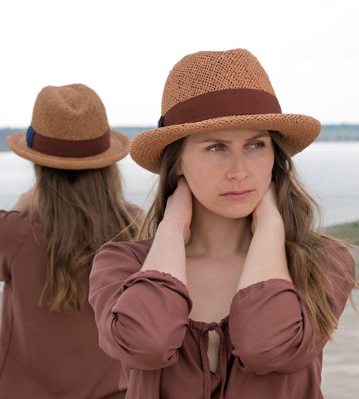 Fedora, Strohhut Damen, Herrenstrohhut, straw hat,Trend,Sonnenhut,men's straw hat,chapeau paille,elegant,Designermode, handgefertigt,Palermo
