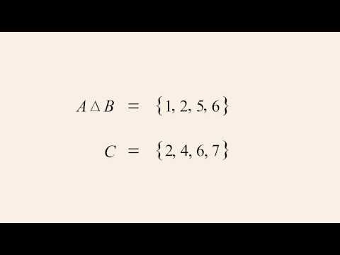 Algebra: 5 - Symmetric Difference