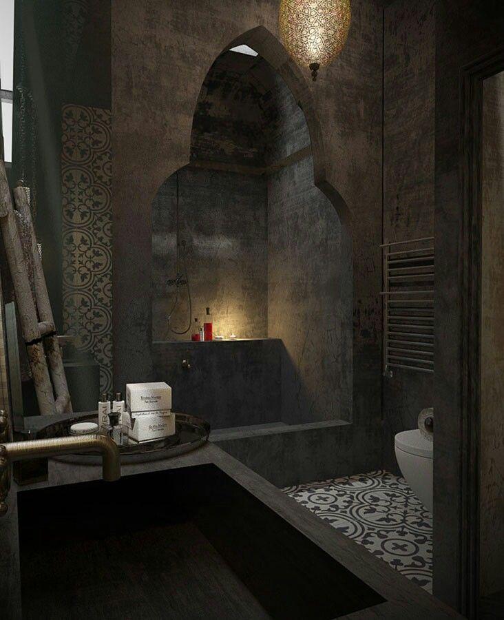 Modern moroccan shower designed by Marouane Okba