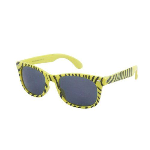 Zebra Striped Print Colourful Wayfarers Available in a Selection of Colours