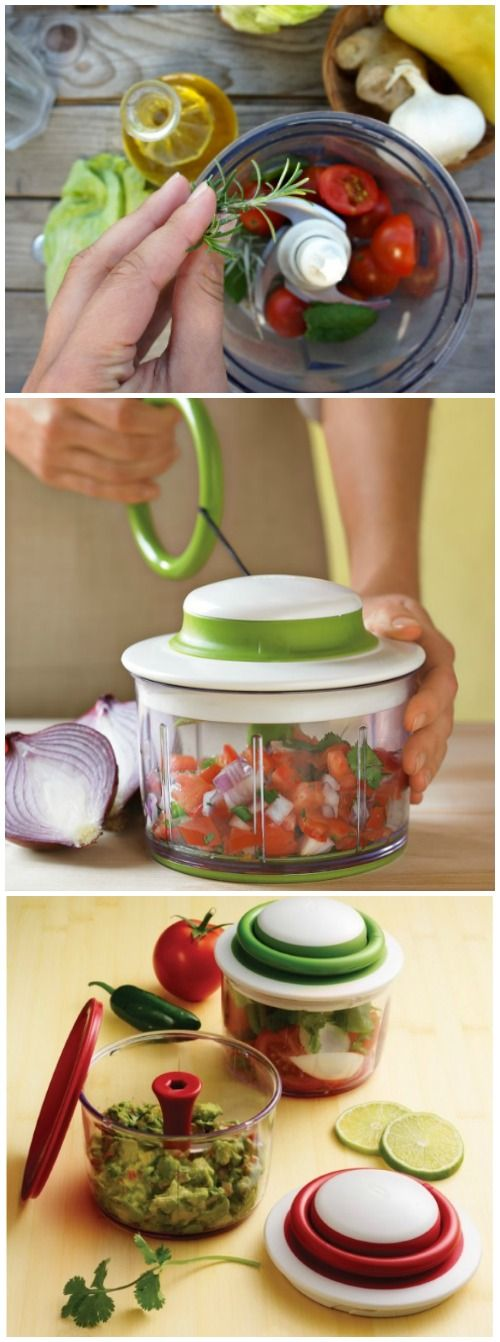 Breeze through food preparation tasks with the beautifully designed Chef'n VeggiChop Hand-Powered Food Chopper. #affiliate