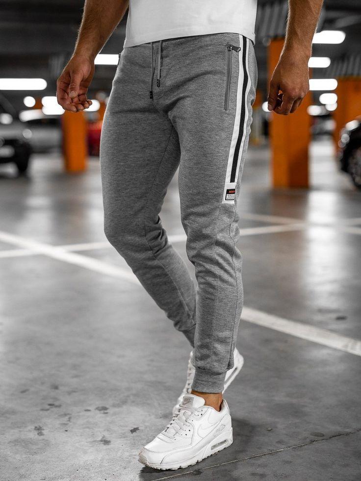 Spodnie Dresowe Meskie Grafitowe Denley Am60 In 2021 Jogger Pants Sweatpants Pants