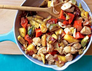 Chicken, Sweet Potato and Apple Skillet