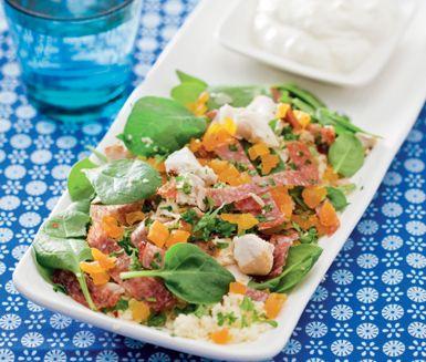 Recept: Couscous med kyckling och salami