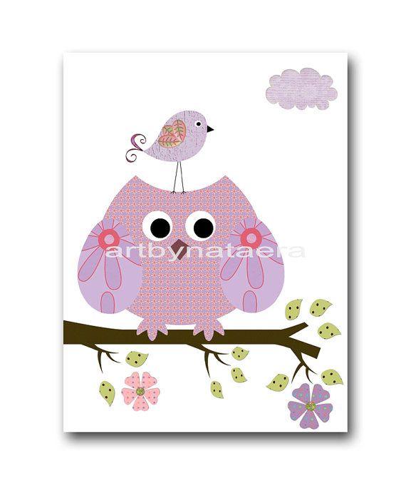 Playroom Owl Decor Owl Nursery Digital Print by nataeradownload