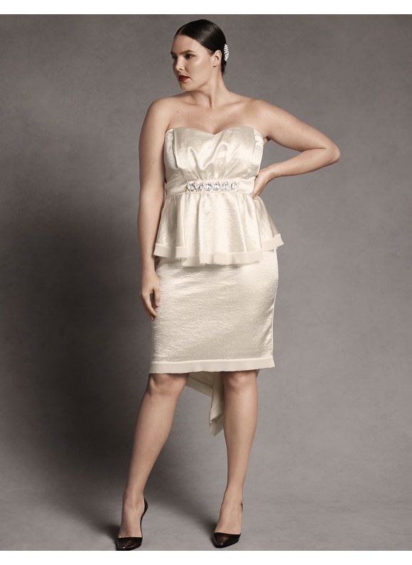 Plus Size Satin Bustier Strapless Dress By Isabel Toledo Lane Bryant Womens 1214