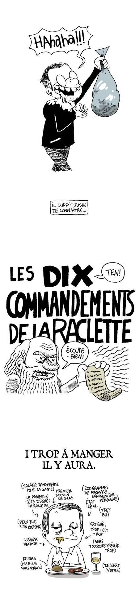 Les 10 commandements de la #raclette  #ABAM