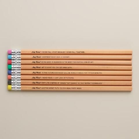 Andy Warhol Philosophy Pencils, Set of 8 | World Market