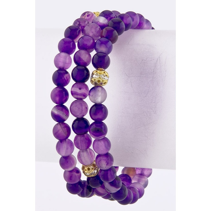 Trio of purple trendy bracelets!  https://www.krisandkate.com/dealoftheday.html  $22Colours Purple, Beads Bracelets, Trendy Bracelets, Purple Passion, Beaded Bracelets, Amazing Bracelets, Purple Marbles, Purple Things, Lovin Purple