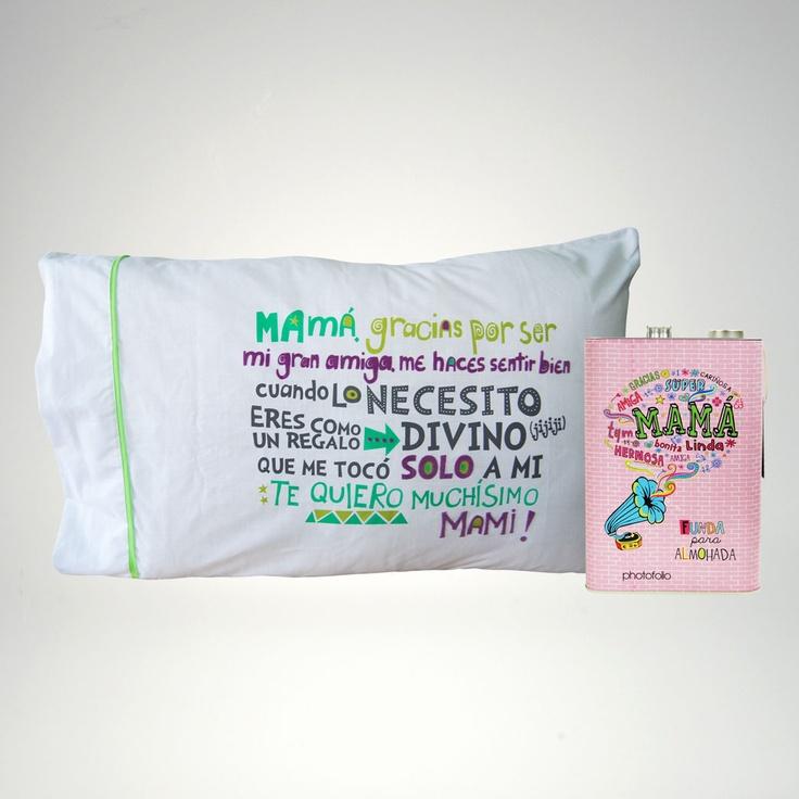 Dia de las Madres: Funda para almohada. #photofolio