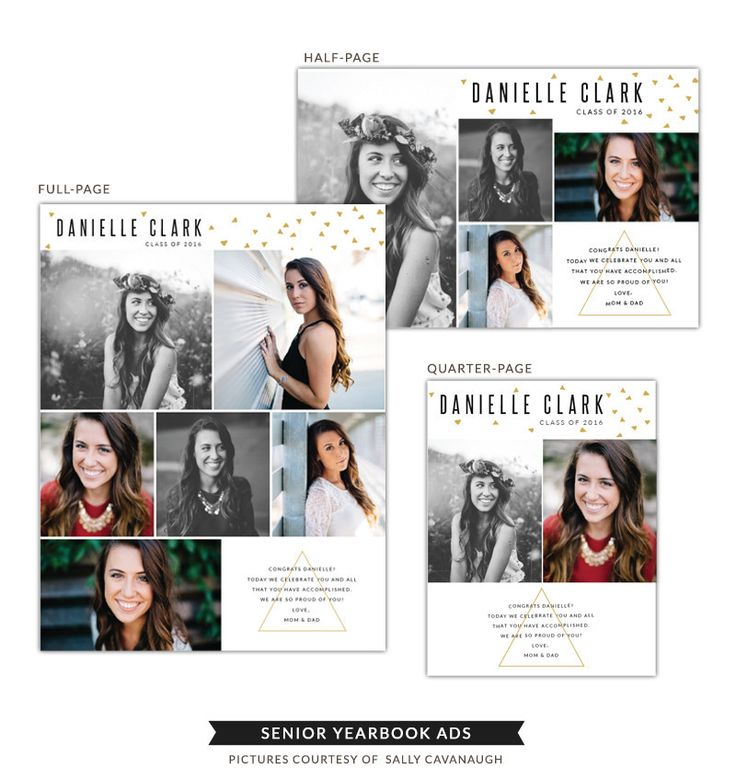 Senior Yearbook Ads | Danielle - Birdesign