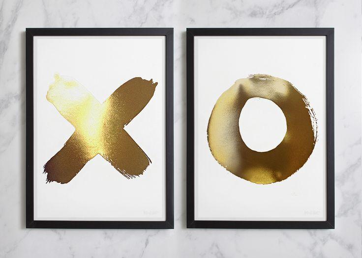 XO Gold Foil Print Set (Medium)