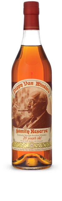 Pappy Van Winkle 20 Year  The #1 rated Bourbon Whiskey in the world with a 99 out of 100 rating by the World Spirits Championship. This bourbon is aged 20 years and bottled at 90.4 proof for a wonderfully smooth and rich profile. Pappy Van Winkle was a true character and like its namesake, this bourbon whiskey is full of character – quite a remarkable whiskey.