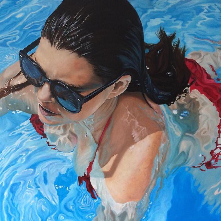 Day 92: We're dreaming of warmer days at bluethumb HQ. Perhaps we should move closer to our new award-winning artist Amanda Cameron (@amanda_cameron_art)! #100DaysOfArtists #artuncovered #art #contemporaryart #Australia http://ift.tt/1TN6MFr