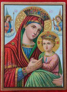 Εικόνες-Αγίων-Βυζαντινές-αγιογραφίες-ορθόδοξες-εικόνες-χειροποίητες-εκκλησιαστικά είδη: Παναγία με Χριστό των Αγγέλων