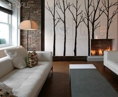 Vinyl Wall Decal Sticker Art  Winter Trees  set of 6 by NouWall, $85.00