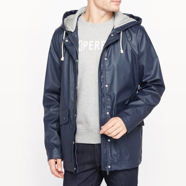 pso Parka impermeable con capucha