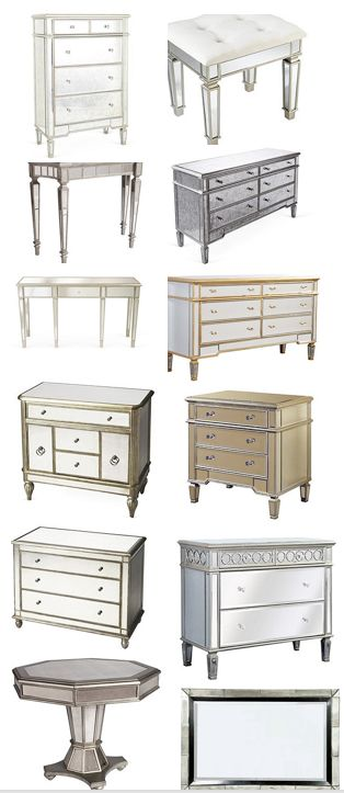 Mirrored furniture flash sale