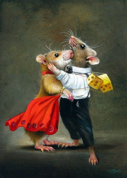 Открытки мышами, животных смешные